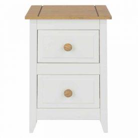 Capri 2 Drawer Petite Bedside Cabinet