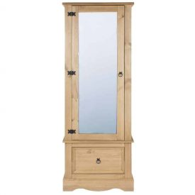 Corona Single Door Armoire With Bottom Drawer