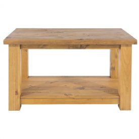 Farmhouse Coffee Table with Low Shelf