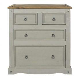 Corona Grey 2+2 chest of drawers