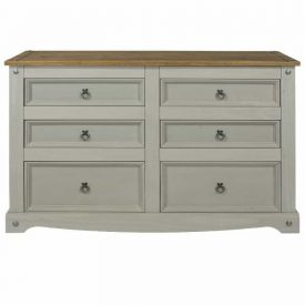 Corona Grey 6 drawer chest