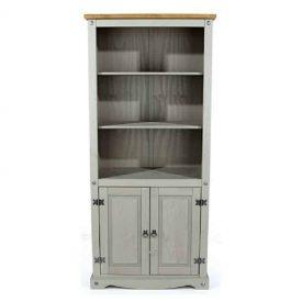 Corona grey 2 door bookcase